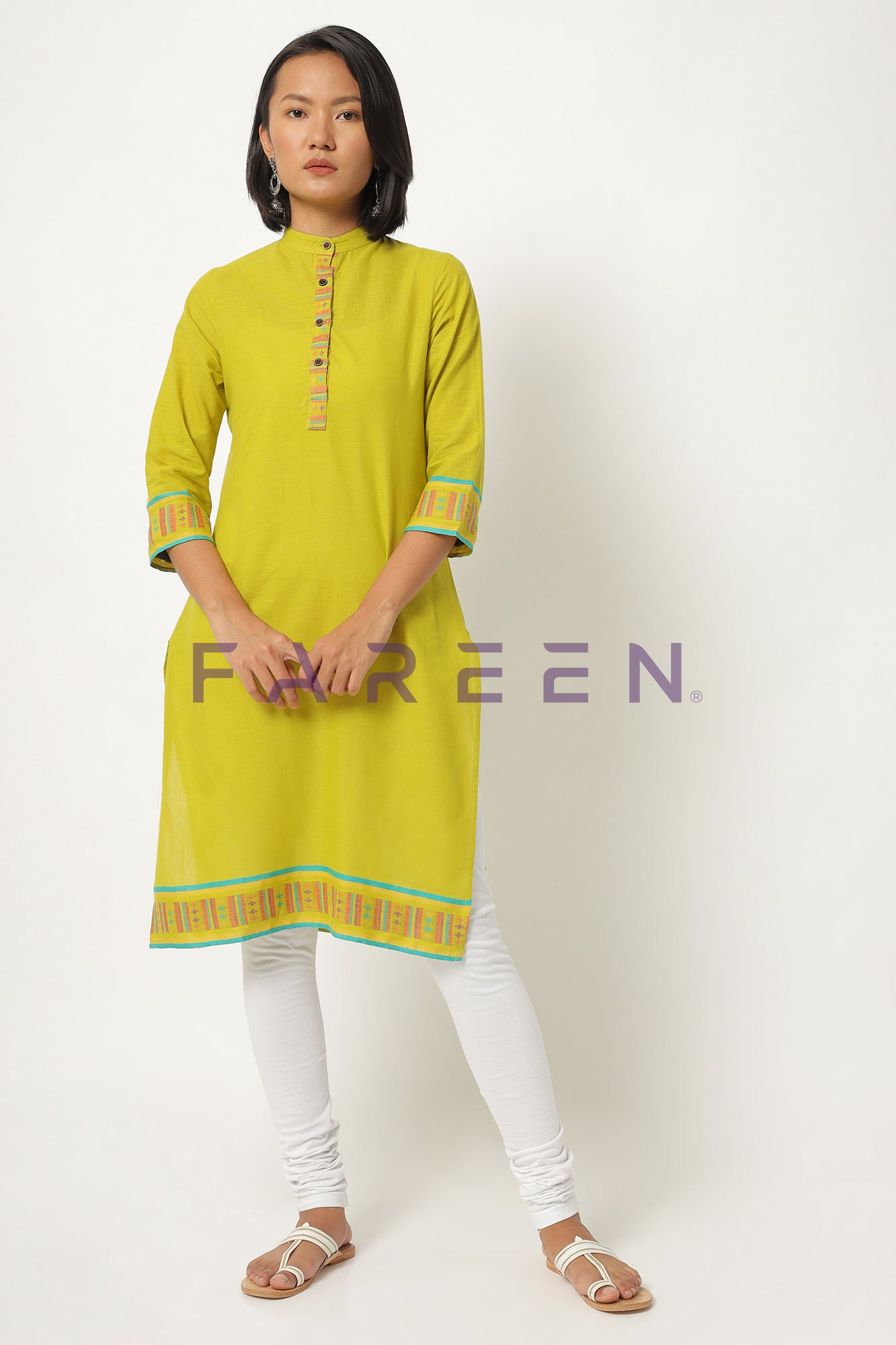 Greenish Yellow Kurti
