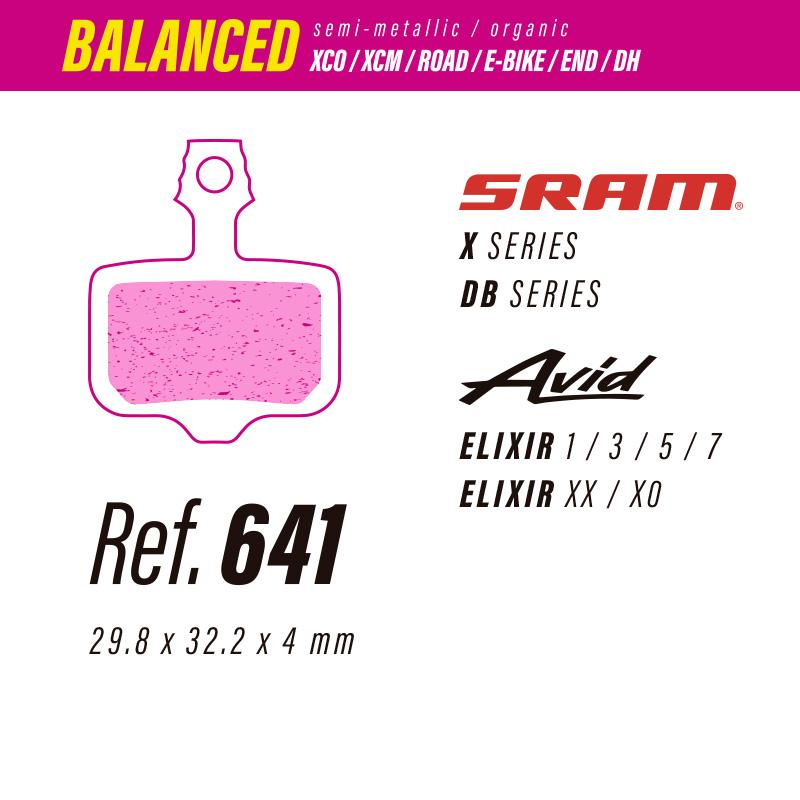 641 LESS BALANCED PASTILLAS FRENO Sram x-db / Avid elixir