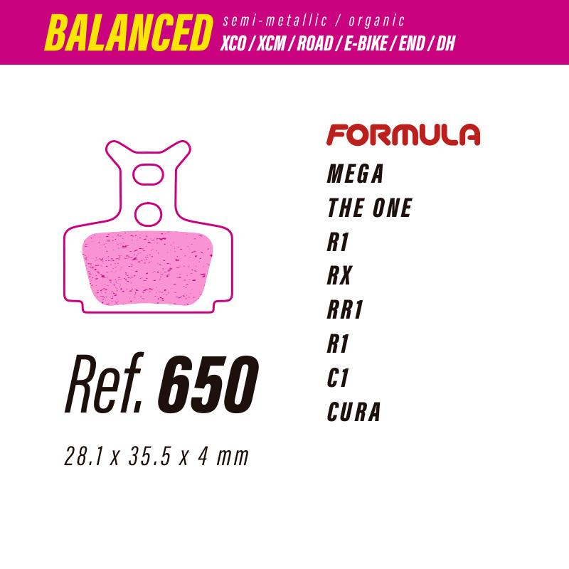 650 LESS BALANCED PASTILLAS FRENO Formula