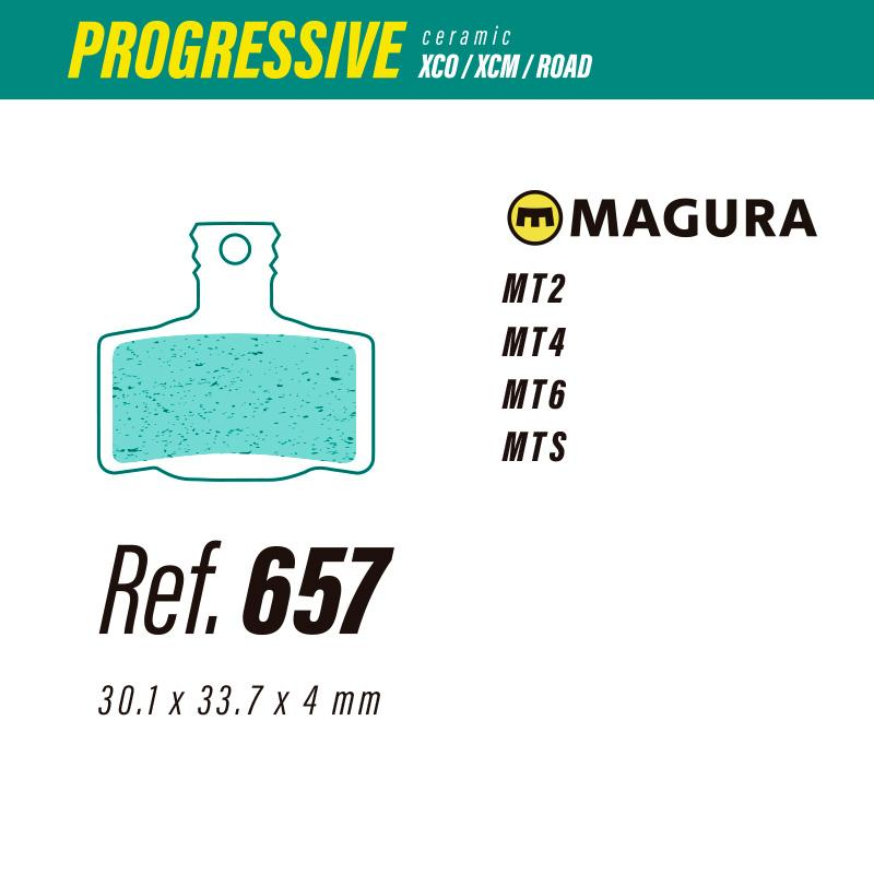 657 LESS PROGRESSIVE PASTILLAS FRENO Magura mt2-mt4-mt6-mts
