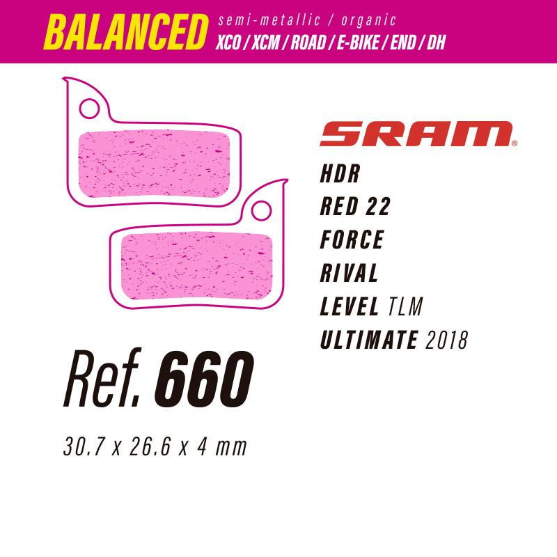 660 LESS BALANCED PASTILLAS FRENO Sram hdr-red22-force-rival-level-ult