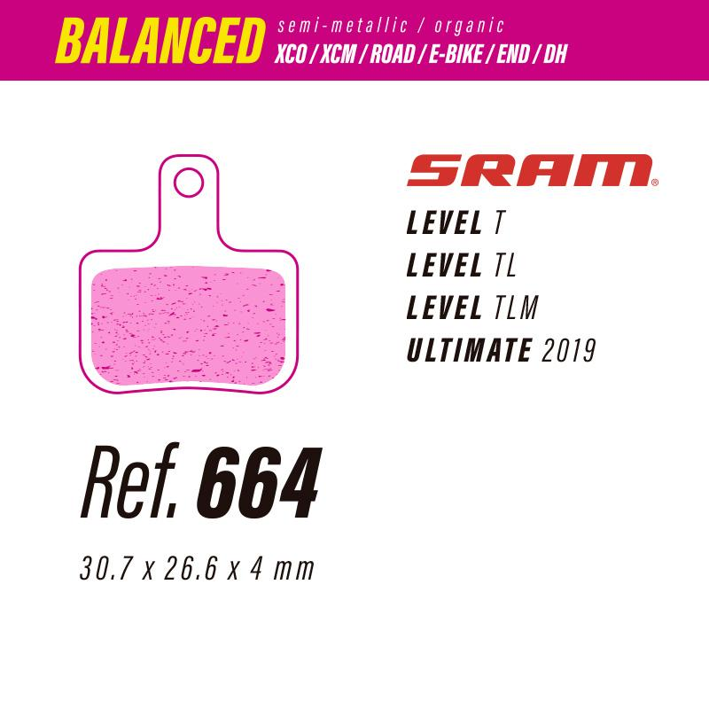 664 LESS BALANCED PASTILLAS FRENO Sram level-ultimate