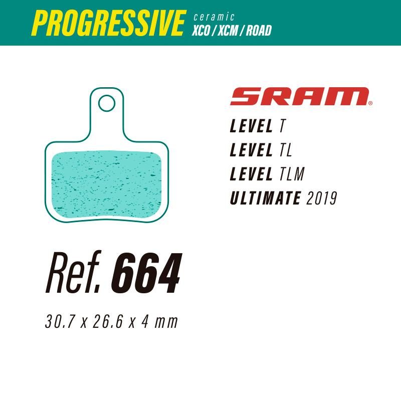 664 LESS PROGRESSIVE PASTILLAS FRENO Sram level-ultimate