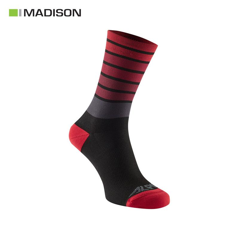 Calcetines MADISON ALPINE MTB Negro/Rojo