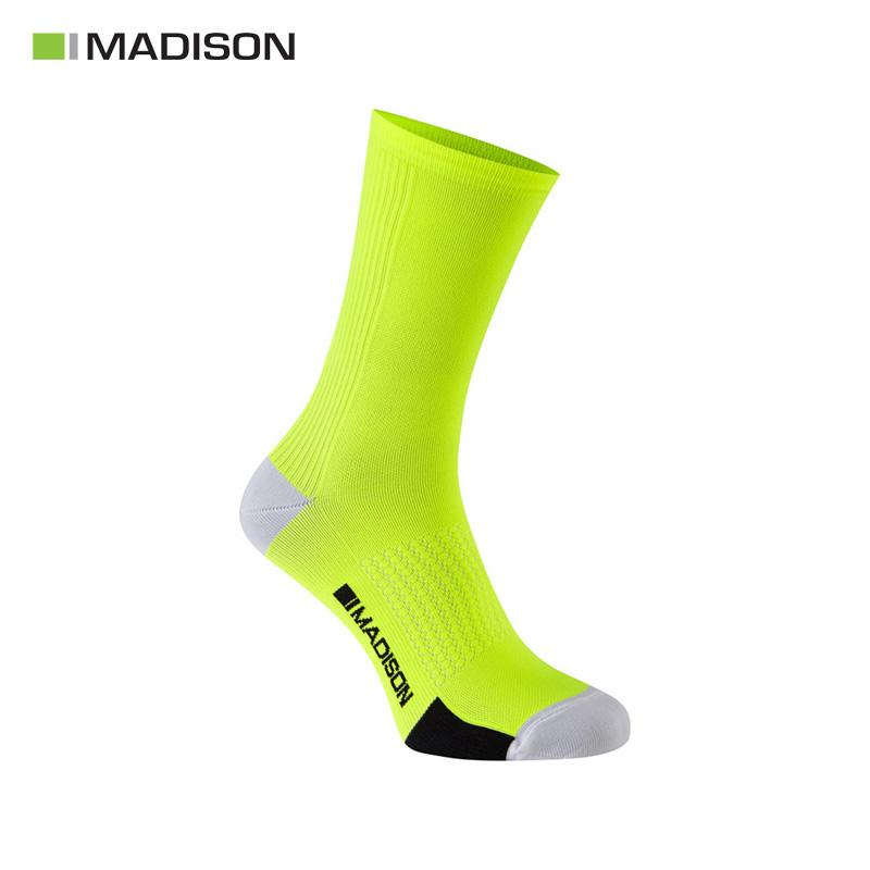 Calcetines MADISON ROAD RACE Amarillo Fluor