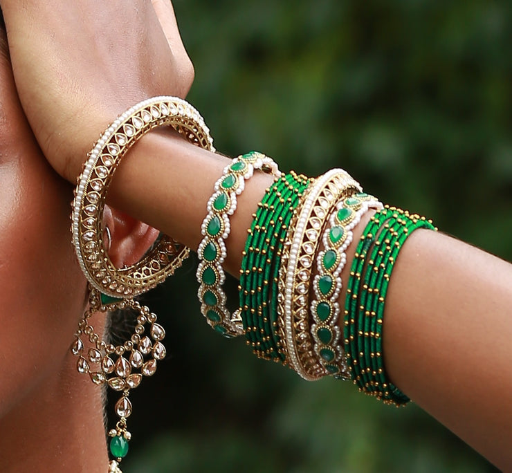 Cala Bracelets in Green