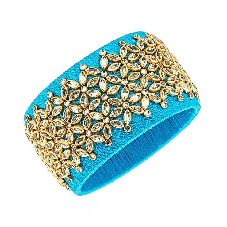 Blue Embellished Cuff