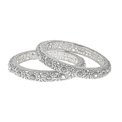 Ai Silver Bangle Set