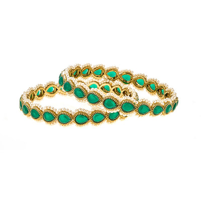 Anay Bracelet Set in Emerald