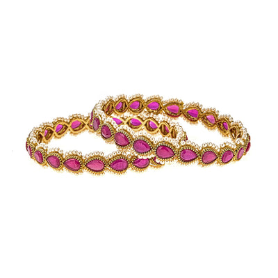 Anay Bracelet Set in Ruby