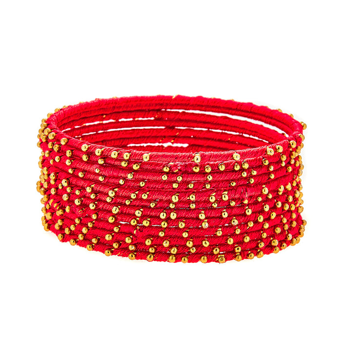 Cala Bracelets in Red