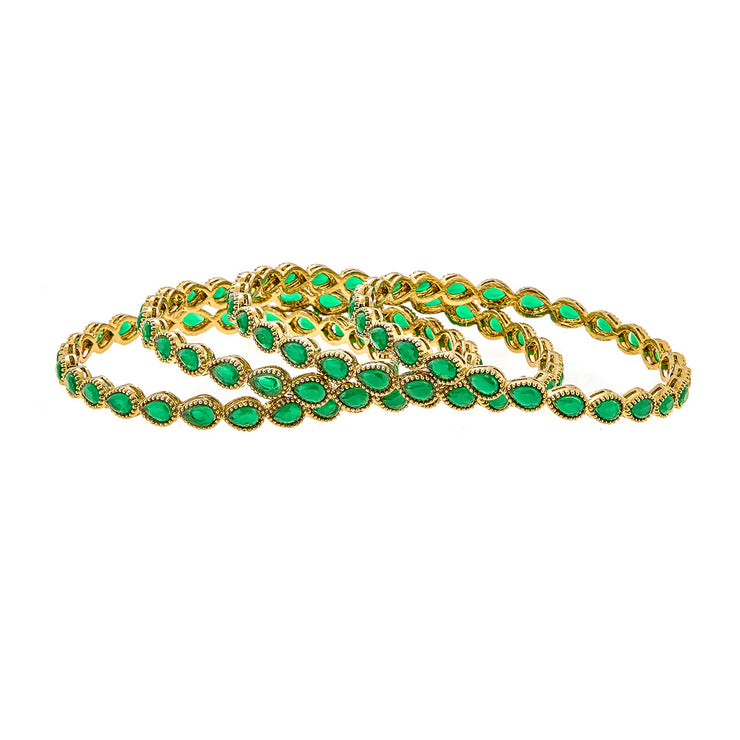 Olena Bracelet Set in Green