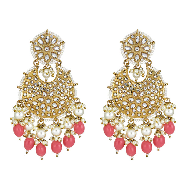 Anaisha Drop Earrings in Red