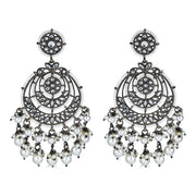 Bhavani Drop Earrings in Gunmetal