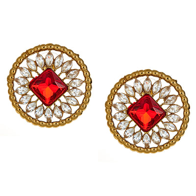 Neema Stud Earrings in Ruby