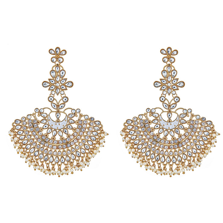 Vanda Drop Earrings in White