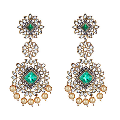Aviva Emerald Drop Earrings