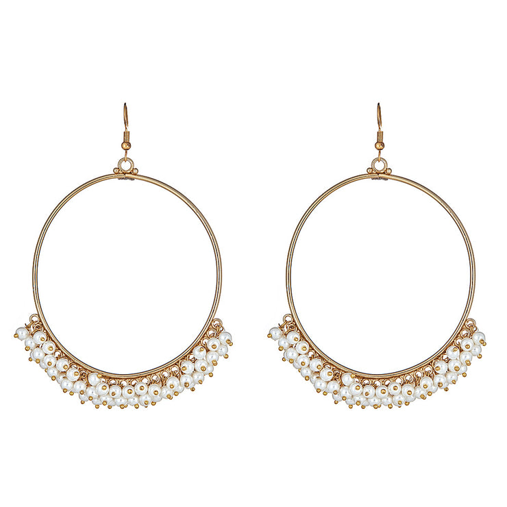 Nadezda Pearl Hoop Earrings