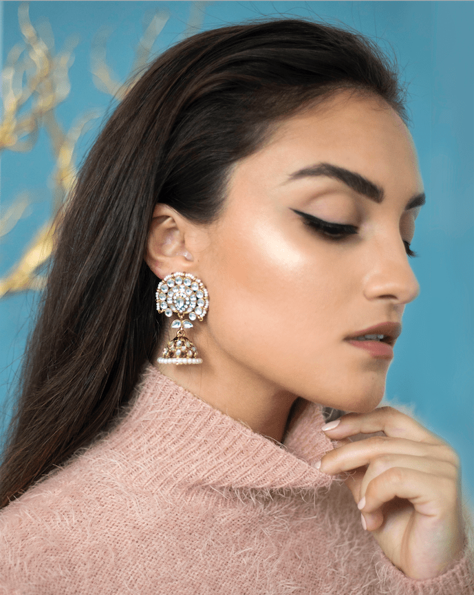 Jabir Floral Drop Earrings