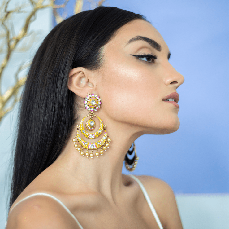Sabin Earrings in Yellow