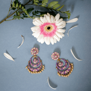 Sabin Earrings in Purple