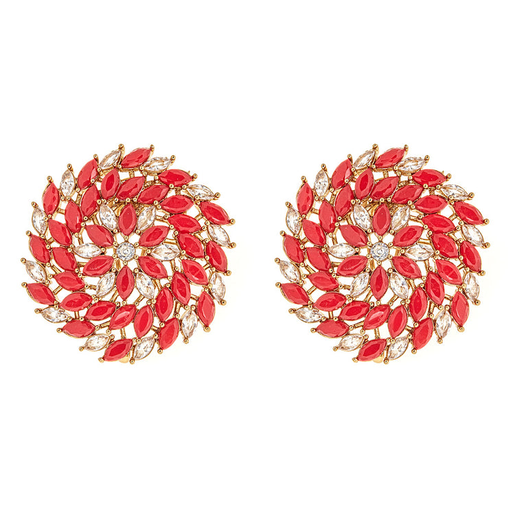 Zoya Stud Earrings in Pink