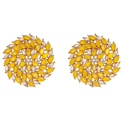 Zoya Stud Earrings in Yellow