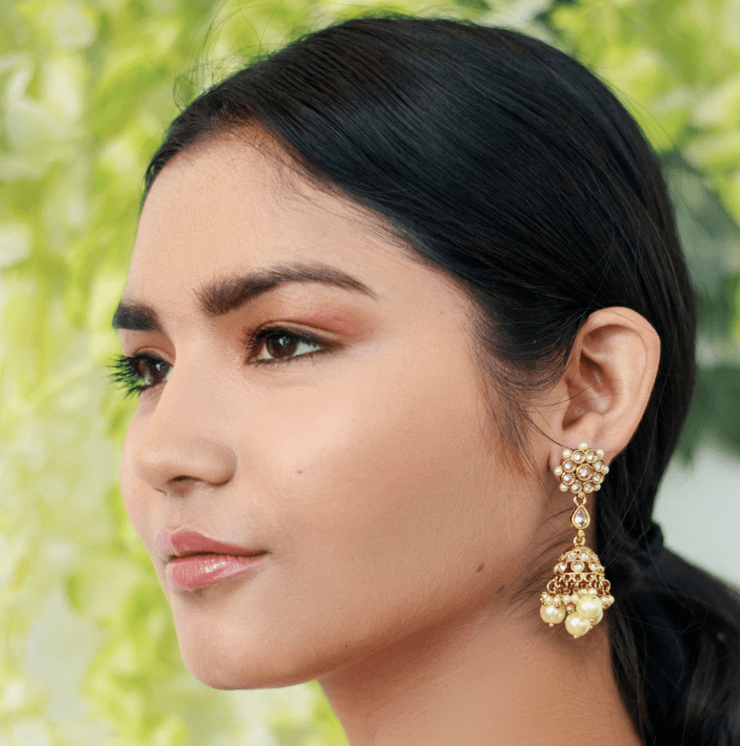 Nira Floral Drop Earrings