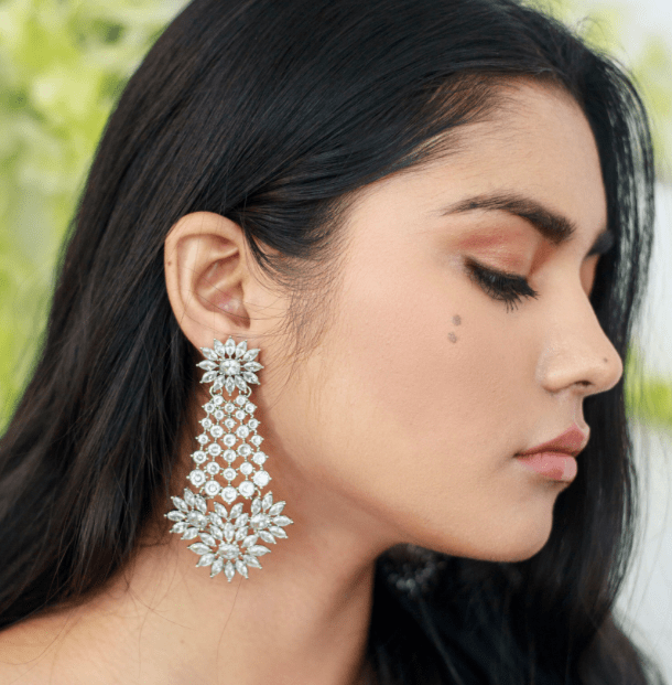 Fariya Drop Earrings in Silver