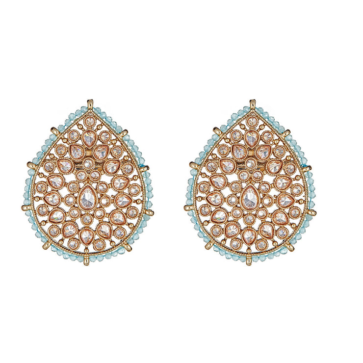 Suhana Studs in Mint Green