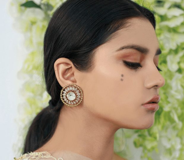 Neema Stud Earrings in Clear