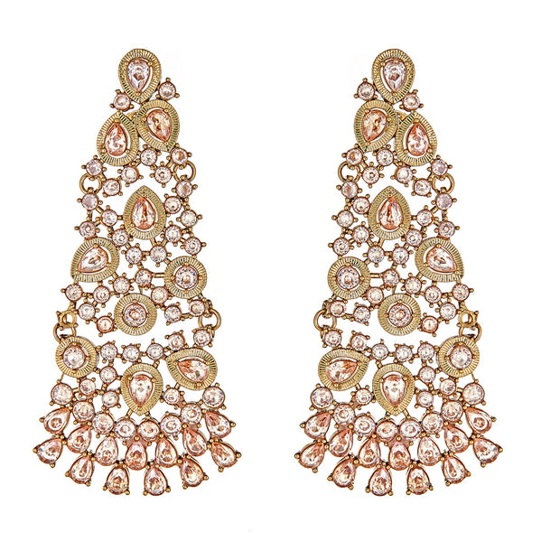 Hamidi Diamond Drop Earrings in Gold