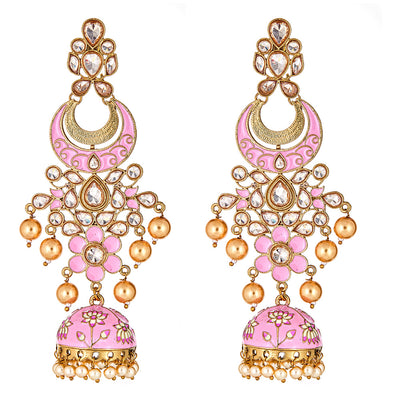 Liv Drop Earrings in Pink