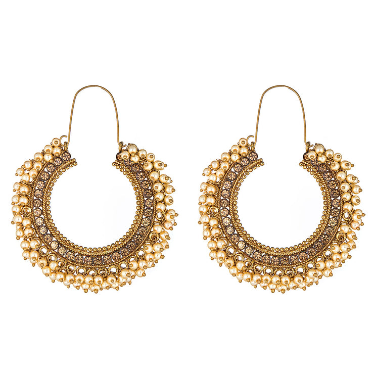 Shaurya Earrings in Pearl