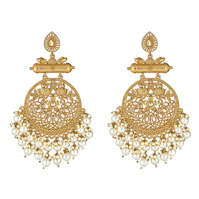 Krishna Earrings Pearl