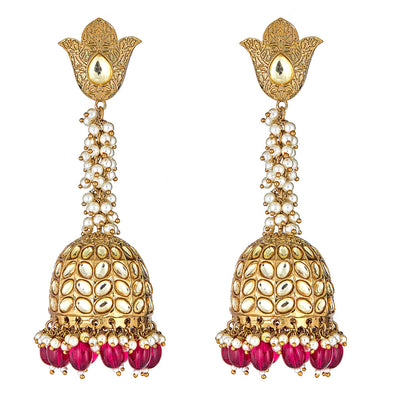 Novalie Drop Earrings in Red