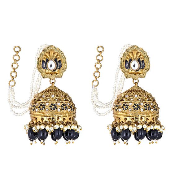 Sai Drop Earrings in Onyx