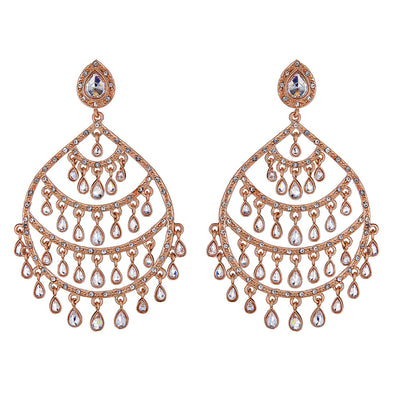 Anya Earrings in Rose Gold
