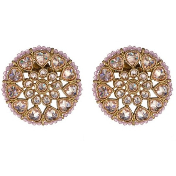 Edha Earrings in Rose Pink