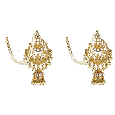 Svara Earrings in Pearl