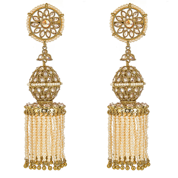 Kiah Earrings in Pearl