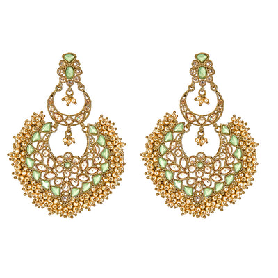 Jeni Earrings in Mint Green