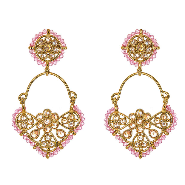 Isha Earrings in Pink