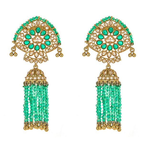 Nitali Earrings in Sea Green