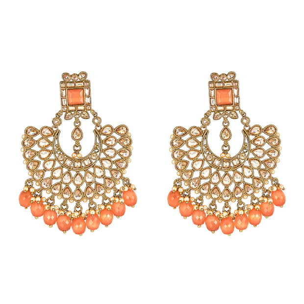 Gianna Earrings in Coral