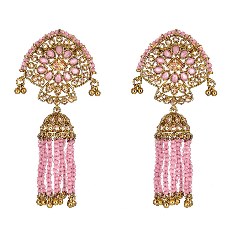 Nitali Earrings in Pink