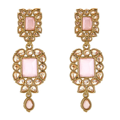 Sehar Earrings in Pink