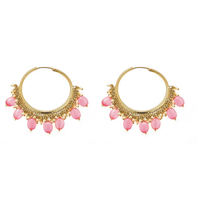 Yana Earrings in Pink