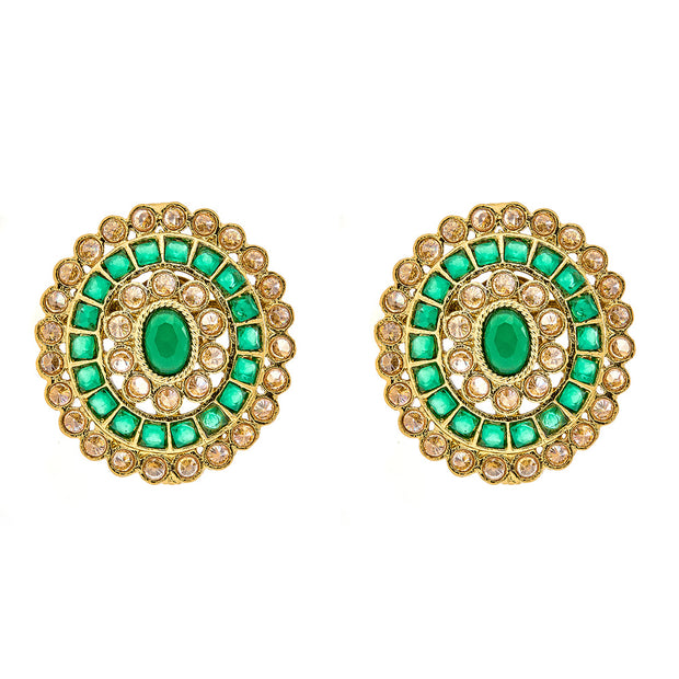 Faria Stud Earrings in Green