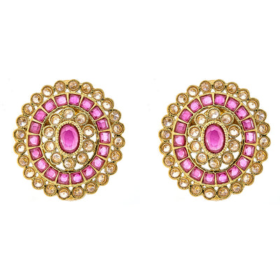 Faria Stud Earrings in Red